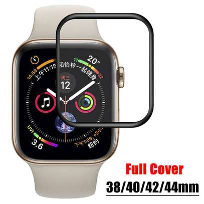 3D Curved Edge Tempered Glass Protective Film For Apple Watch 40,42,44 image 3