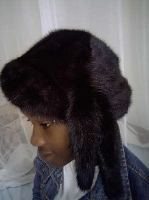 Women Mink Fur Hat Caps image 5
