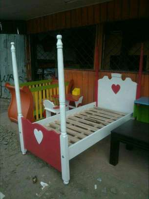 Kids post beds with storage drawers image 4