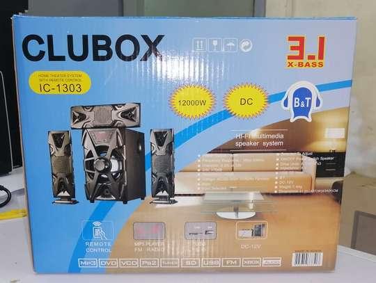 CLUBOX IC-1303 3.1 HI-FI Multimedia Speaker System Black image 2