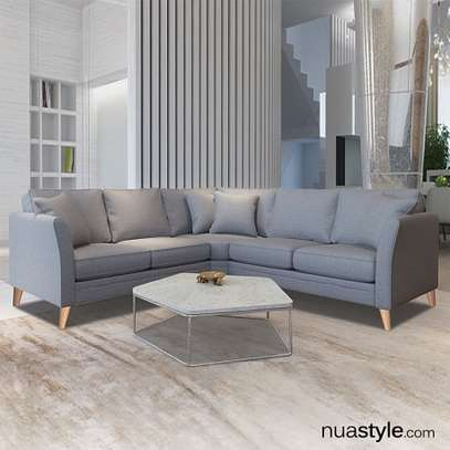 New seven seater L shaped sofa image 1