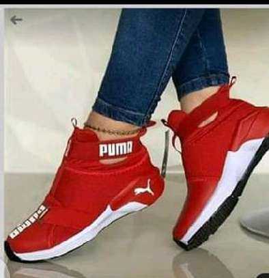 Red Puma Sneakers image 1