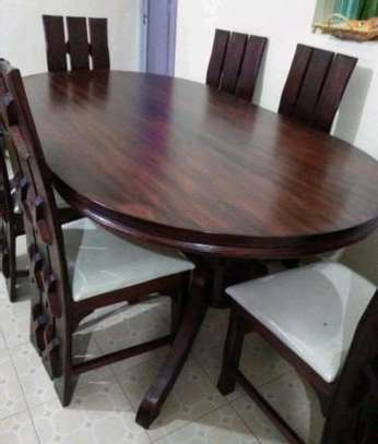 6 seater unique dining set image 1