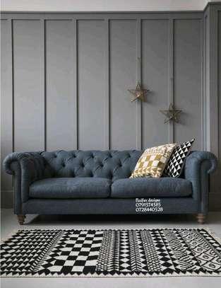 Chesterfield sofas/modern sofas/three seater sofa image 1