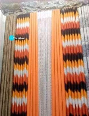elegant orange double sided curtains image 1