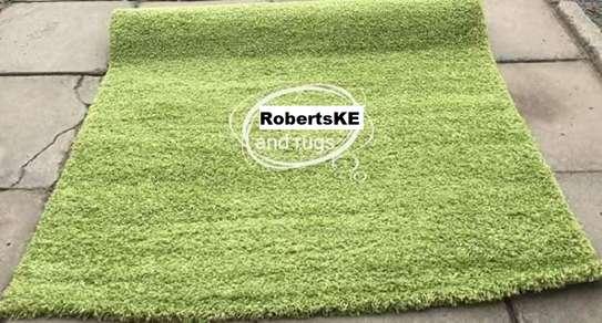 Turkish shaggy carpets green image 1