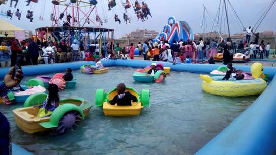 Electric boats,air balls and  water pools for hire