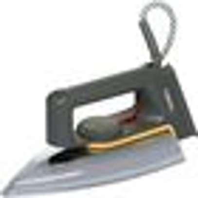 Classic Dry Iron, 1000-1200W - Grey & Silver image 1