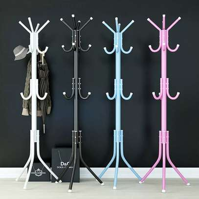 Multi-functional Clothes And Bag Floor Hanging Rack image 1