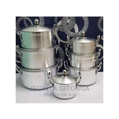 Generic 14 Pieces Heavy Aluminium Cooking Pot Sufuria Set image 1