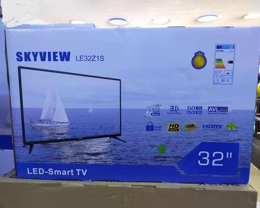 32 inch Skyview Smart Android LED TV Frameless- Inbuilt decorder-Wi-Fi -black . image 1