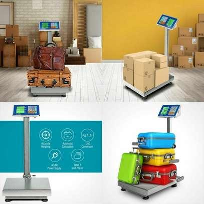 Digital Postal Platform Scale 660lb Weight Shipping Foldable Supermarkets LED image 1