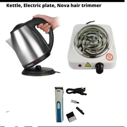 ELECTRIC KETTLE+ HOT PLATE + HAIR TRIMMER image 1