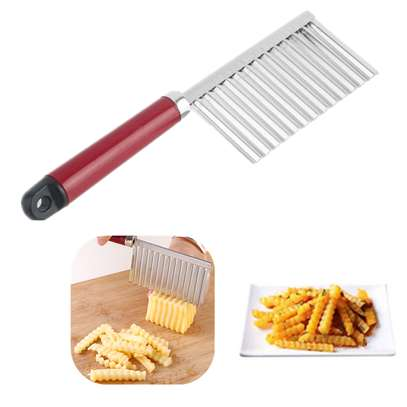 Stainless Steel Vegetable Potato Crinkle Wavy Knife Cutter image 6