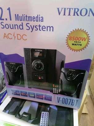 Vitron v007 8500 watts sub woofer with blue tooth Ac DC FM radio image 1