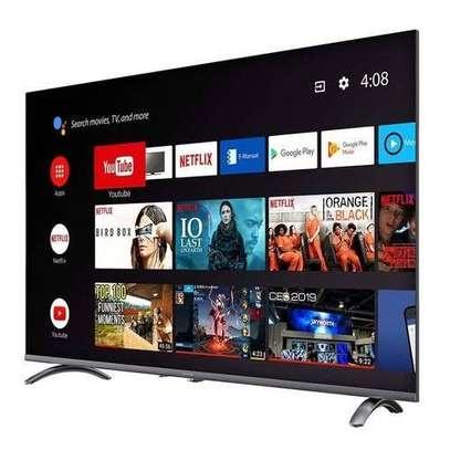 EEFA 55 inches New Android Smart UHD-4K Frameless Digital TVs image 1
