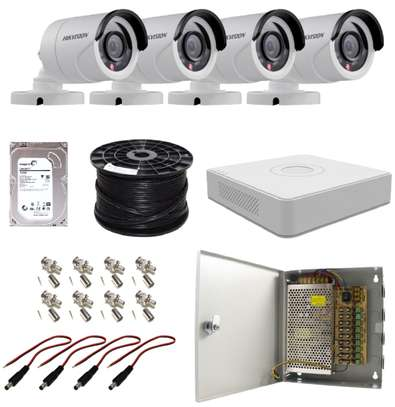 Hikvision 720P 4 Channel Turbo HD CCTV Cameras Kit W/1TB Hard Drive