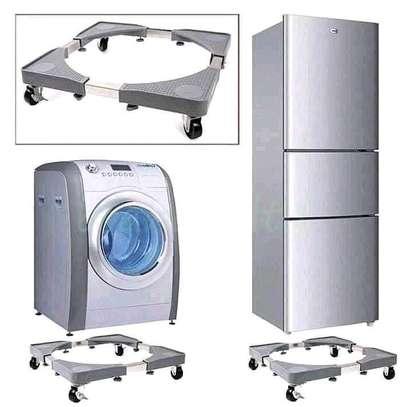 Adjustable fridge/ washing machine Trolley stand image 1