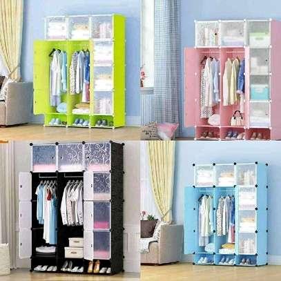 plastic portable wardrobes 3 columns image 3