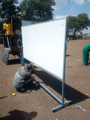 Double Sided Portable Whiteboard in Stock 6x4fts image 1