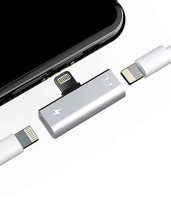 2 In 1 Splitter Adapter For iPhone (Charging + Music Player) image 6