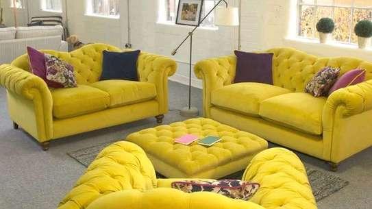 Complete set of sofas (three seater sofa+three seater sofa+two seater sofa+footrest puff)(3+3+2) image 1