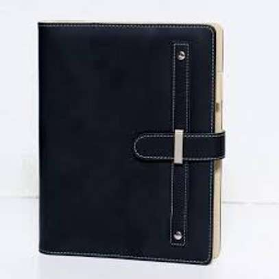 Black Leather Covered Diary
