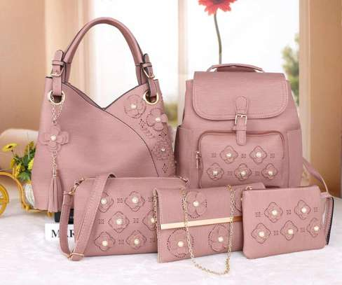 Amazing 5 in 1 Pure leather Handbags image 10