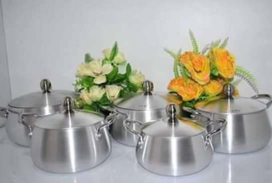 Stailess Steel Heavy Sufurias 5Pcs image 1