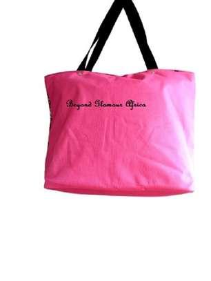 Womens Pink ankara canvas handbag image 2