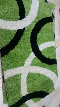Small Green With White and Black rug