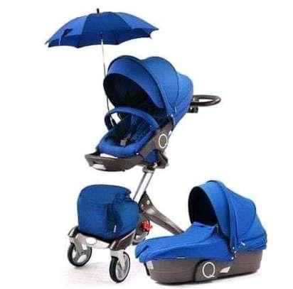 LUXUROUS TRAVEL SYSTEM - Premium Quality Stroller, A Travel Bag & Bassinet image 3