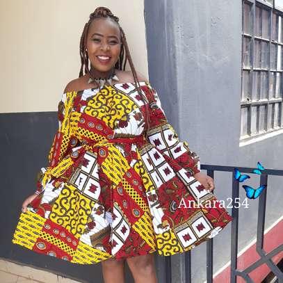 Flare ankara dress image 1