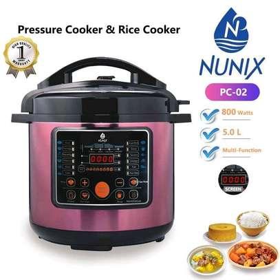 Nunix Non Explosive Multi- Purpose Electric Pressure & Rice Cooker image 1