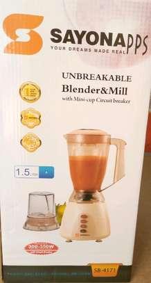 Unbreakable blender&mill 1.5L image 1