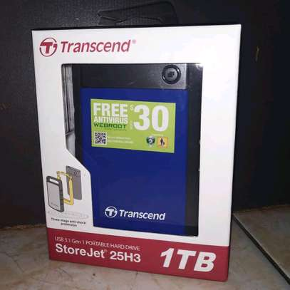 Transcend 1 TB External Hard Drive brand new and sealed in a shop. image 1