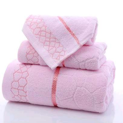 Classy cotton anti-lint 3 in one towels image 2