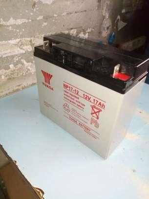 Rechargable Lead Acid 17Ah 12V Yuasa battery image 1