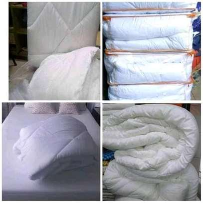 Pure white cotton duvet