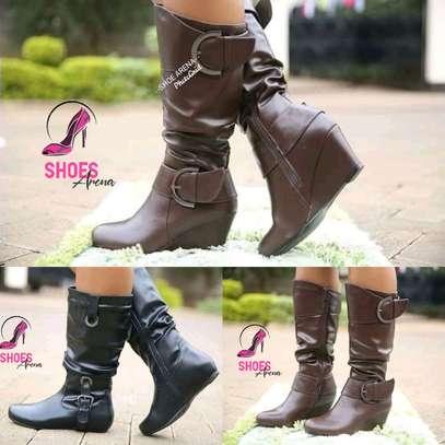 Rainy season leather boots image 1