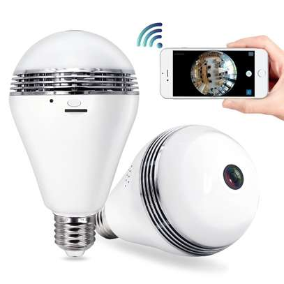 Camera Bulb Wifi System - TecBillion (Updated Version), Home Security Camera Light Bulb Wireless Outdoor, Wide 360 Degree Lens Video Digital Wifi Indoor Security IP Dome Camera, White