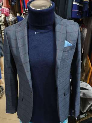 Slim Fit Single One Button Blazer Jackets for Men image 4