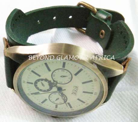 Green Vintage Leather Watch