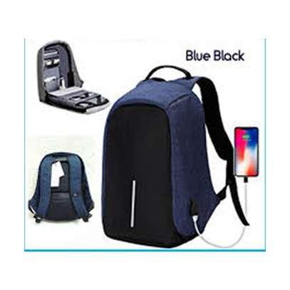Generic Blue Anti-Theft Back Pack image 1