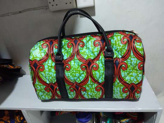 African print customized travelling bag image 3