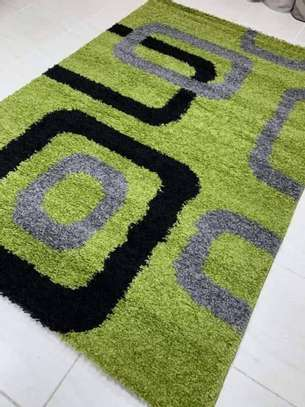 Green-black-grey turkish carpet 6by9 image 1
