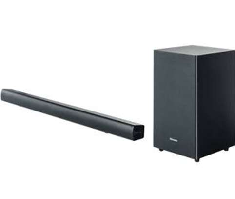 Hisense sound bar system with 2.1 wireless subwoofer image 1