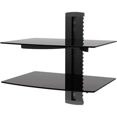 Ematic Adjustable 2 Shelf for DVD Player, Cable Box image 1