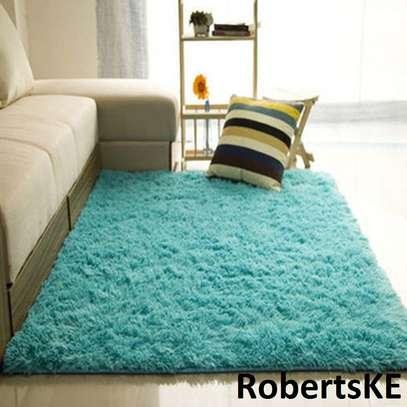 fluffy blue  carpet image 1