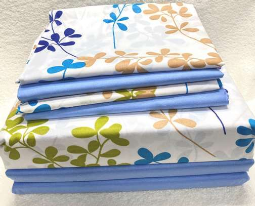 6by6 bluish flowered bedsheet image 1